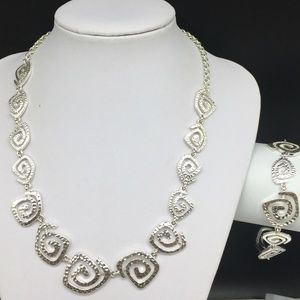 Premier Designs Abstract Swirl Chain Necklace Set